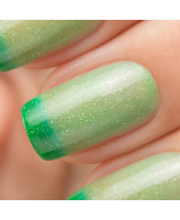 Bow Nail Polish Верхнее покрытие с термоэффектом (зеленое)