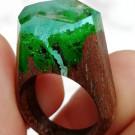 GREEN WOOD Деревянное кольцо Waterfall (автор - E_lena.kokoreva)