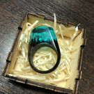 GREEN WOOD Деревянное кольцо Coral (author - elcatka)