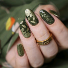 piCture pOlish Mossy (author - Nails and Cats)