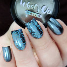 Whats Up Nails Пудра для дизайна Черный хром (автор - Murka_vk_nails)
