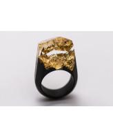GREEN WOOD Деревянное кольцо Golden mountains