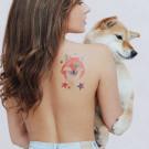 Miami Tattoos Акварельные переводные тату Fox