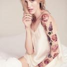 Miami Tattoos Акварельные переводные тату Lilac and Rose