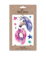Miami Tattoos Акварельные переводные тату Unicorns