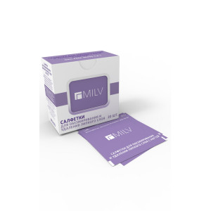 MILV Nail Prep & Adhesive Removing Wipes
