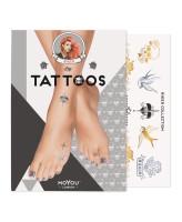 MoYou London Временные татуировки для ног Biker 01