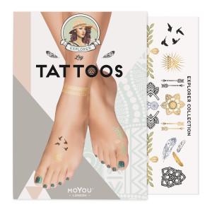 MoYou London Временные татуировки для ног Explorer 01