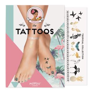 MoYou London Временные татуировки для ног Tropical 01