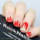 RockNailStar Трафарет Огонь