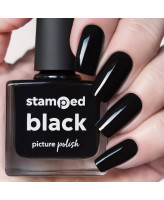 Picture Polish Stamped Black