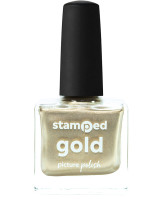 Picture Polish Stamped Gold