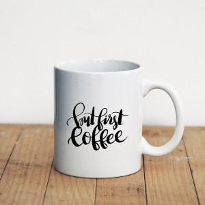 Просто Мыколка Кружка But first coffee