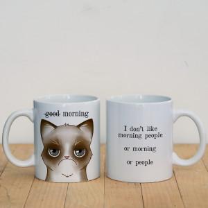 Просто Мыколка Кружка Grumpy cat (good morning)