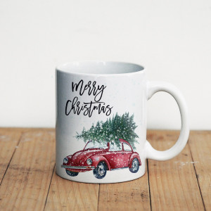 Просто Мыколка Кружка Машинка Merry Christmas