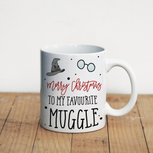 Просто Мыколка Кружка Merry Christmas to my favourite muggle