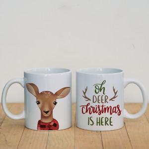 Просто Мыколка Кружка Oh deer Christmas is here