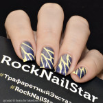 RockNailStar Трафарет-мини Бабочки
