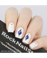RockNailStar Трафарет-мини Камни