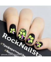 RockNailStar Трафарет-мини Орхидеи