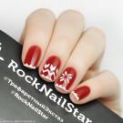 RockNailStar Трафарет Новый год