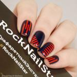 RockNailStar Трафарет Полоски