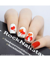 RockNailStar Трафарет Сердечки