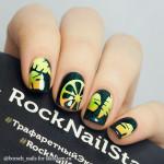 RockNailStar Трафарет Тропики