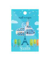 Snails Наклейки для ногтей Blue Stars