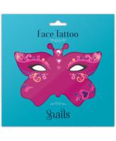 Snails Временные татуировки для лица Queen Of Hearts
