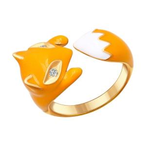 SOKOLOV Кольцо из золоченого серебра в виде лисы