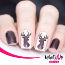 Whats Up Nails Трафарет Северный олень (Antler Stencils)