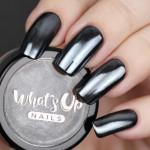 Whats Up Nails Пудра для дизайна Черный хром