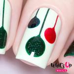 Whats Up Nails Трафарет Рождественские шарики