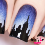 Whats Up Nails Трафарет Город