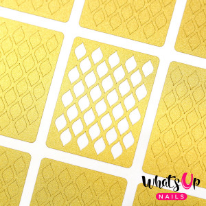 Whats Up Nails Fishnet Stencils
