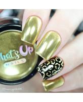 Whats Up Nails Пудра для дизайна Золотой хром