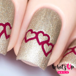 Whats Up Nails Трафарет Сердечная цепь