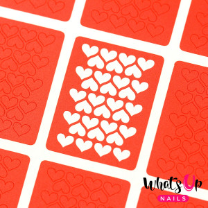 Whats Up Nails Heart Lines Stencils