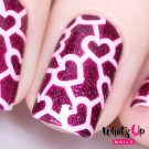 Whats Up Nails Трафарет Паутина сердец (Heart Network Stencils)