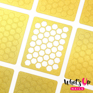 Whats Up Nails Honeycomb Stencils