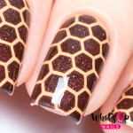 Whats Up Nails Трафарет Пчелиные соты