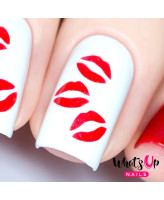 Whats Up Nails Трафарет Поцелуи