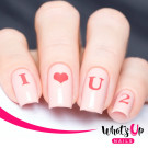 Whats Up Nails Трафарет Любовные письма (Love Letters Stencils)
