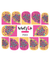 Whats Up Nails P003 Owl Love, Pink