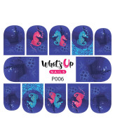 Whats Up Nails P006 I Sea Horses