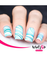 Whats Up Nails P010 Marble Madness, Blue