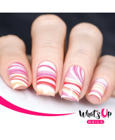 Whats Up Nails P011 Marble Madness, Pink