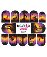 Whats Up Nails P016 Hangin at Sunset
