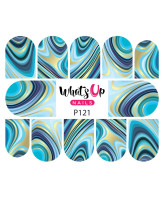 Whats Up Nails P121 Marbled Like the Sea